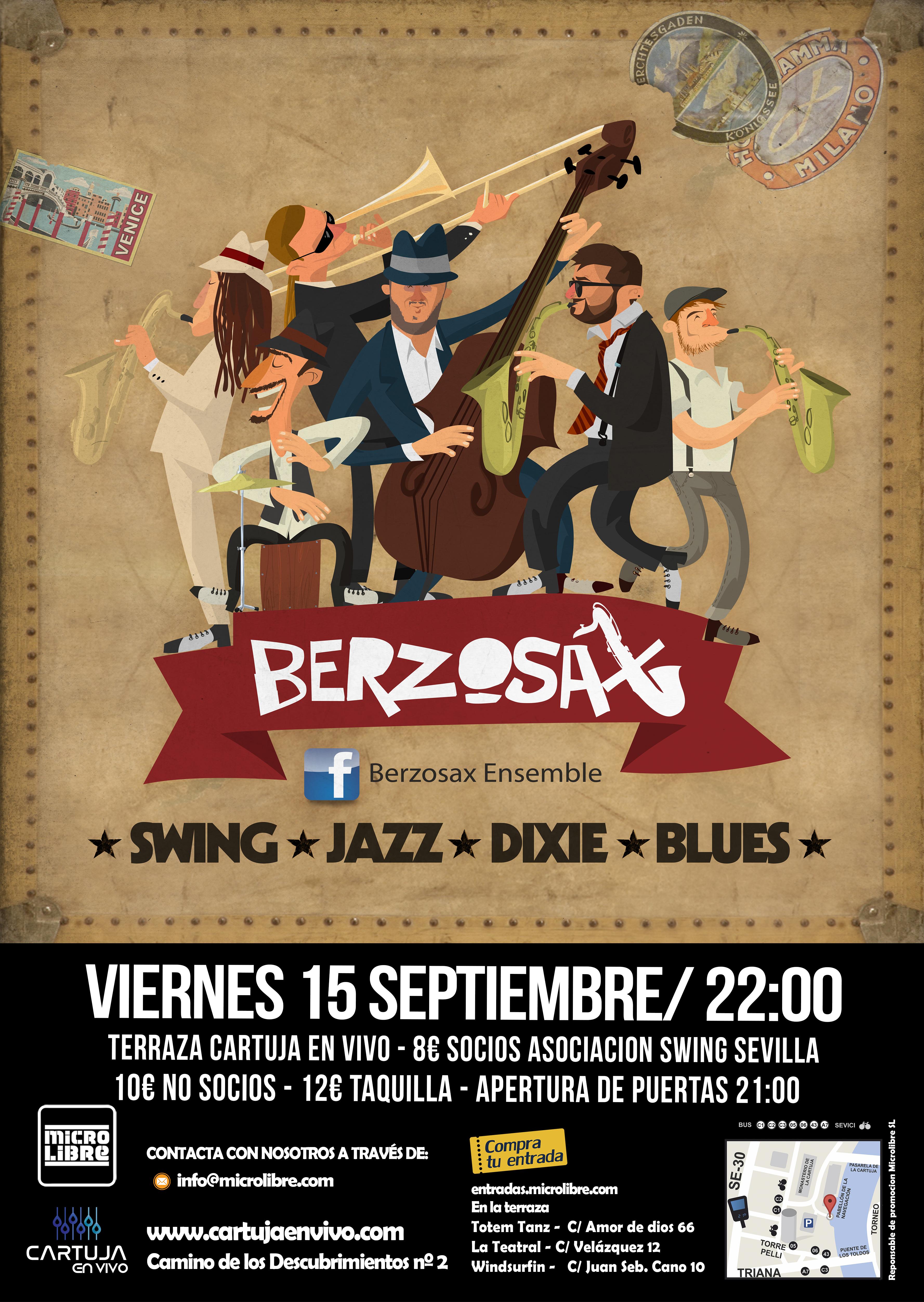 Fiesta Swing Berzosax Ensemble - 15Septiembre - Cartuja en Vivo 538d92c9d61