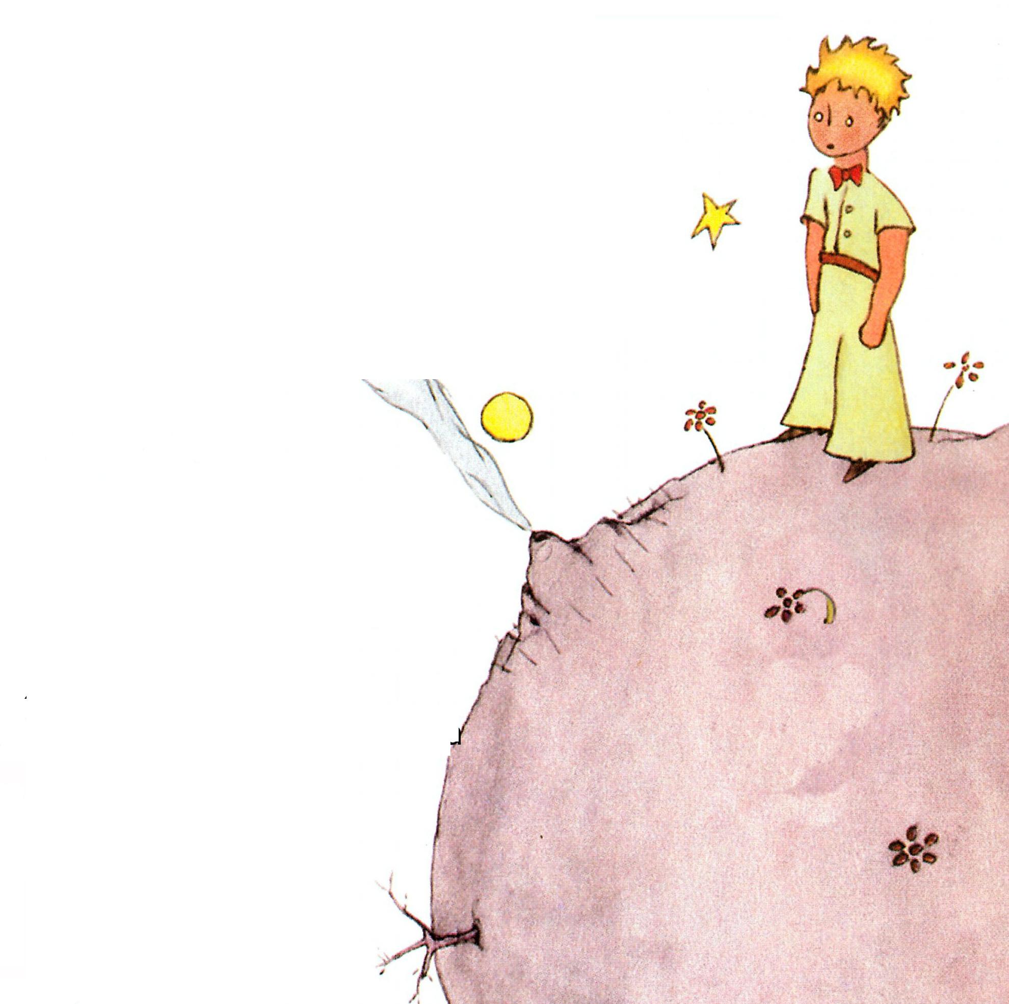 картинки маленький принц карандашом цветными